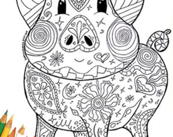 Easy coloring page | Etsy