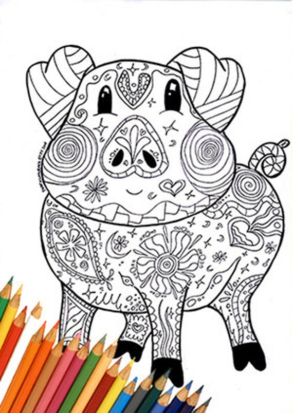 coloring page pig coloring page coloring pig farm coloring