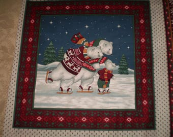 Whimsical Christmas Pillow Covers or Quilt Fabric