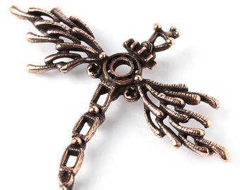 Mechanical firefly wing steampunk antique bronze findings 3606. Designed and made by Anna Bronze.
