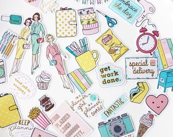 Planner Girl! 70 Self-Adhesive Gold Foil Sticker Flakes