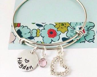 Little Girls Bracelet, Name Bracelet, Personalized Name Bracelet, Kids Bracelet, Young Girls Jewelry, Kids Birthday Gift