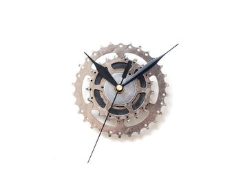 Steampunk Wall Clock, Bicycle Wall Clock, Contemporary Wall Clock, Unique Wall Clock, Industrial Decor, Decorative Clock, Modern Clock