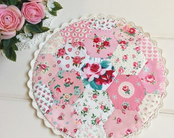a most lovely large hexie patchwork doily no.2