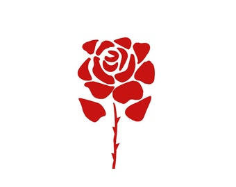 Rose Stencil (Reusable)- Different sizes and styles available