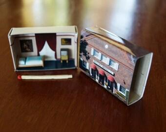 Matchbox Building: Matchbox Miniature of The Brassey Hotel, Canberra, Australia.