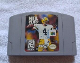 NFL Quarterback Club Nintendo 64 Game *Cleaned & Tested* N64