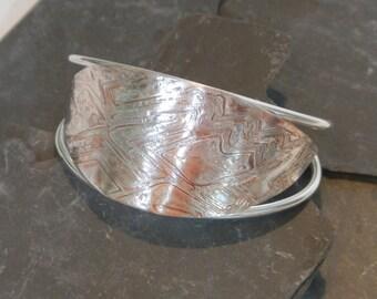 Hot Wired Mokume Gane Bracelet