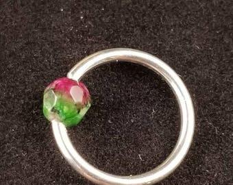 Daith earring, Daith ring, Daith earring Sterling Silver, Daith earring 16 gauge, Gemstone Daith eraaing, Daith earring hoop, Body Jewelry