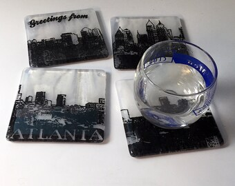 Greetings from Atlanta Skyline Coasters - Made to order