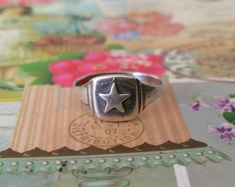 Star ring, Silver star ring, Lucy star ring, Sealed star ring, Silver Stackable ring, Star ring, Boho silver star ring, Stylish silver star