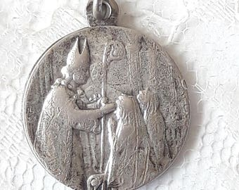 Antique French First Communion Medal