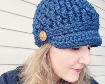 NEWSBOY HAT PATTERN:Cozy Textured Newsboy Hat Pattern/Crochet Pattern/Newsboy Pattern/Textured Newsboy/Crochet/Womens Crochet Hat Pattern