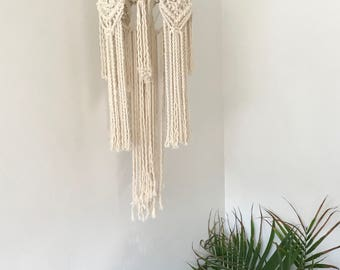 Macrame Mobile Wall Hanging // macrame lantern // boho decor // made to order