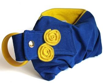 Electric Blue & Yellow Bracelet Handbag Clutch