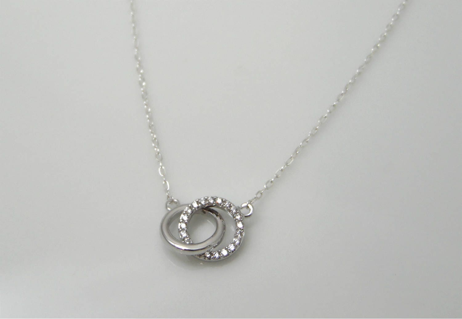 Infinity rings necklace interlocking circles necklace open zoom aloadofball Choice Image