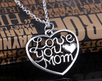 Mother's Day Love You Mom Pendant Necklace