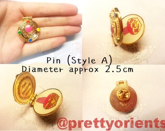 Sailor Moon Enamel Pin (Transformation Brooch style, can be opened, sailormoon, cosplay)