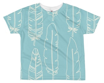Boho Feather Tee, Kids Feather Tee, Feather T shirt, Summer Kids Clothes, Boho Kids Clothes, Toddler Clothes, Bohemian Boy Clothes, Boho Kid