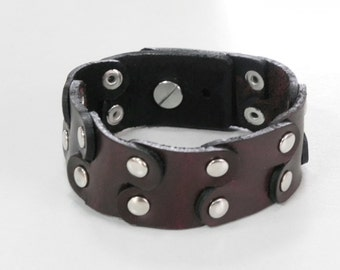 Revet Brown Leather Cuff Leather Bracelet