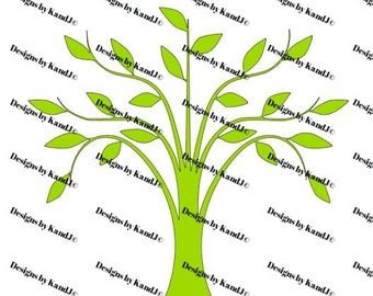 Tree svgTree with Leaves svg Family Tree SVG File  Digital cut file SVG- Instant Download