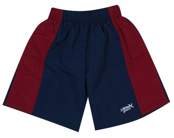 Boys Swim Trunks Navy and Red Swim Shorts Swimsuits for Boys Youth Swimsuit Beach Shorts Pool Swim Suit