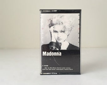 80s Madonna Cassette Tape, Gift Music Lover, Borderline, Holiday, Lucky Star, 1983 Madonna's First Album