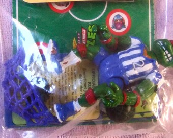 Vintage 1991 Teenage Mutant Ninja Turtles Sports Series - Complete Series Set of (6) Turtles