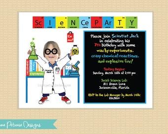 Science Party Invitation . Printable