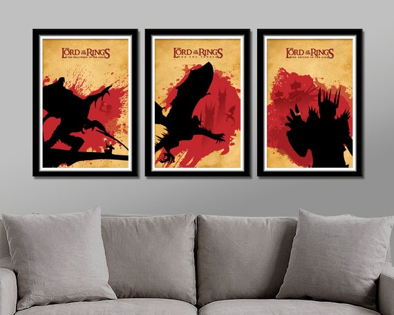 Genial Items Similar To Lord Of The Rings Inspired   Minimalist Movie Poster Set    Print 174   13 X 19 Home Decor On Etsy