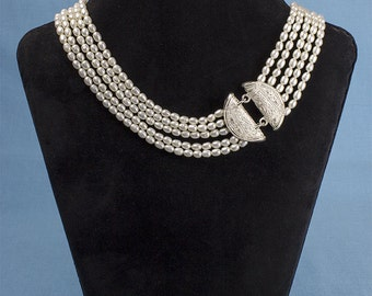 Multi-strand Freshwater Pearl Necklace Limited edition