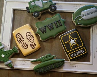 Army Cookies - One Dozen