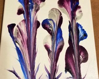 Wild Iris acrylic painting