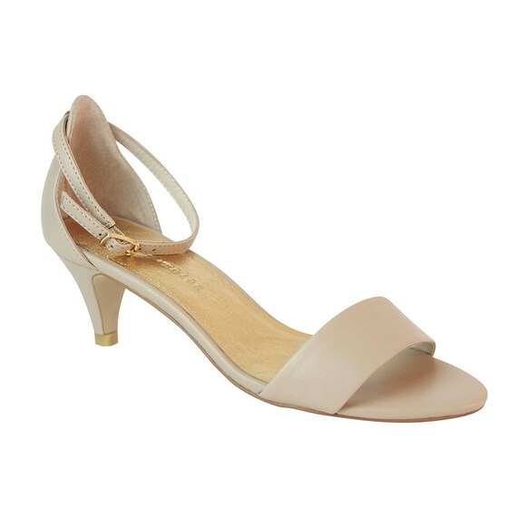 Nude Low Heel Wedding Shoes Leather bridal shoes Designer