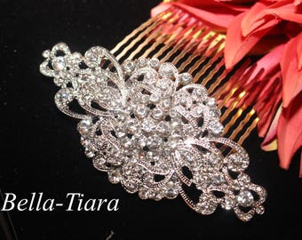 crystal bridal comb, wedding veil comb, rhinestone bridal comb, crystal hair comb, wedding hair comb, bridal hair accessory