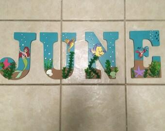 Little Mermaid Themed Nursery Letters