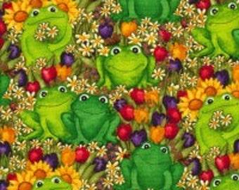 Debi- C6033 - Green Frogs in Garden