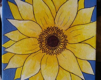 Vibrant Sunflower Painting