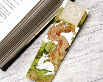 Unicorn bookmark, enchanted forest unicorn, whimsical art, book lover, bookworm gift, collectible bookmarks, cute book gift, cute bookmarks,