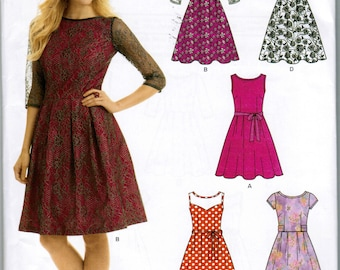 Simplicity 6143 New Look Misses Dress Size A 10, 12, 14, 16, 18, 20, 22 Factory Folded Sewing Pattern