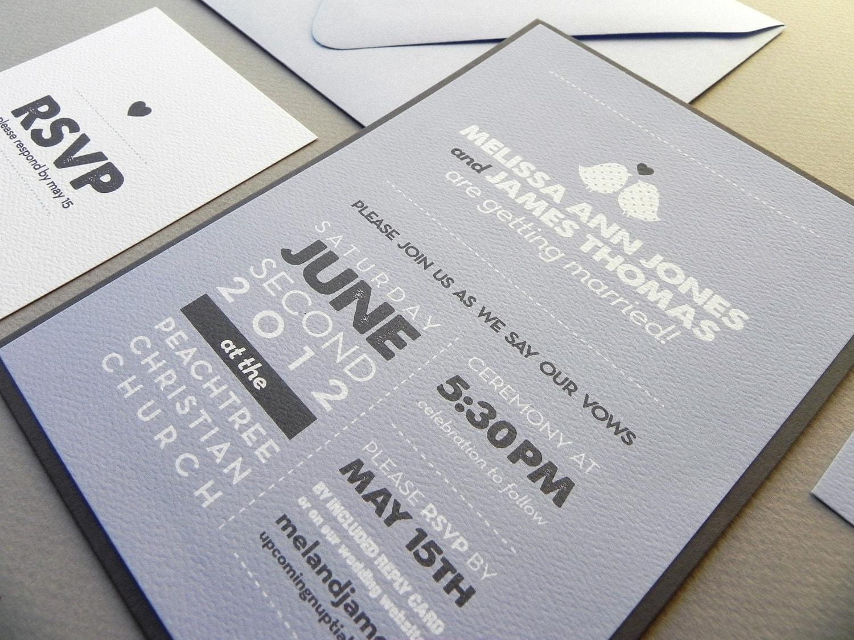 Wedding Invitation Rsvp Card: Modern Love Birds Wedding Invitation Suite RSVP Card Insert