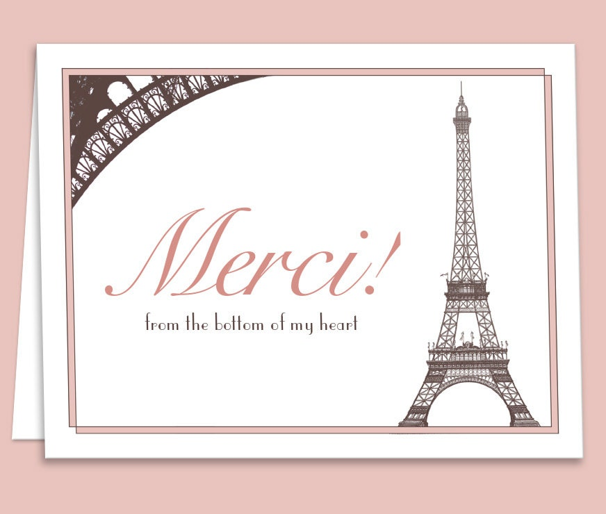 French paris theme thank you card downloadableprintable for zoom stopboris Image collections