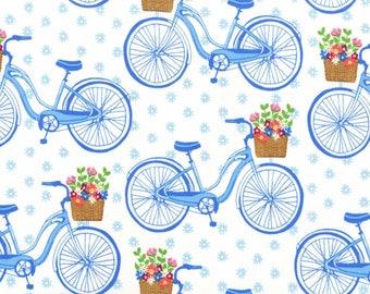 Sunday Morning Bicycle Cotton Fabric