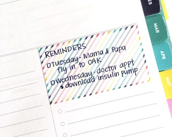 Weekly/Sunday prep stickers for DAILY Simplified Planner