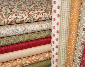 Moda 'Oak Grove Lane' by Kathy Schmitz 100% Cotton Woodland/Squirrel/Leaves/Autumn by the Fat Quarter