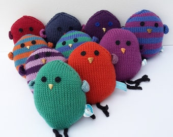 Bird knitting pattern