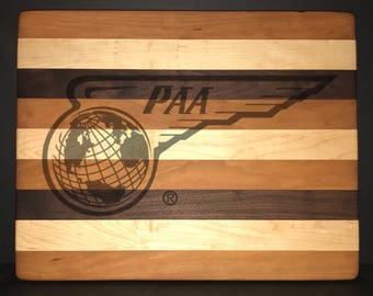 14 X 18 X 1 inch Pan American Airways Bread/Cheese Board