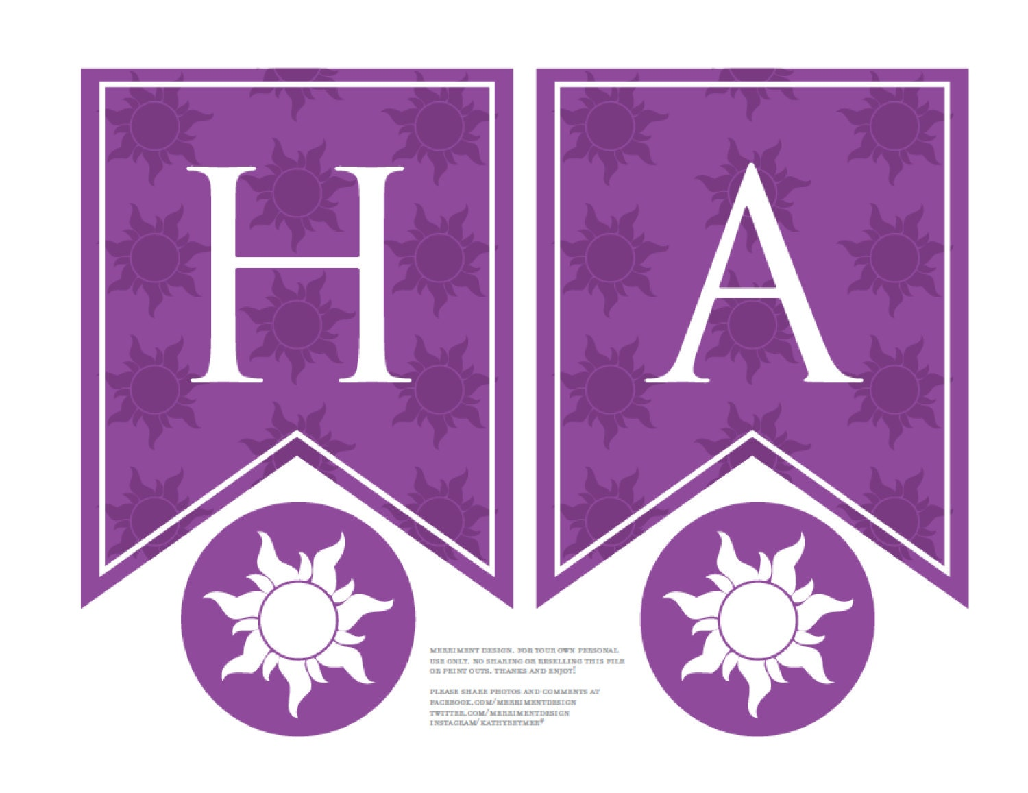 Personalized Rapunzel Sun Birthday Banner Printable Pdf In