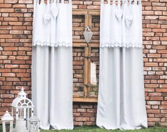 Boho Chic Curtains, Farmhouse Curtains, Natural Curtains, Vintage Chic  Curtains, Farmhouse Chic