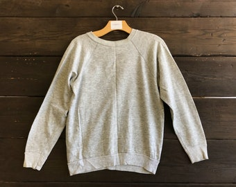 Vintage 80s Heather Grey Sweatshirt